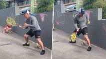 Watch : David Warner Uses Tennis Ball To Hone Catching Skills