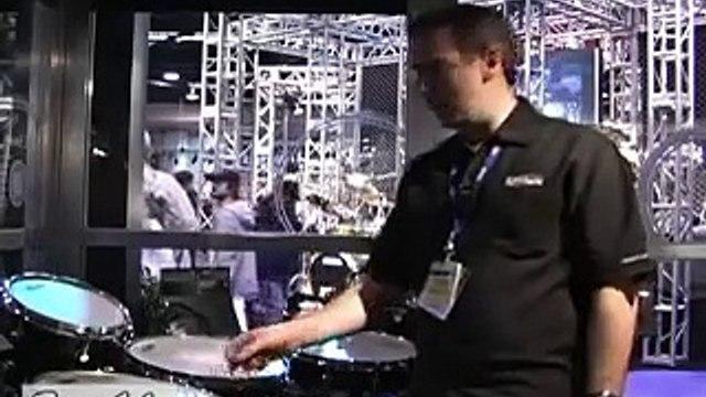 Evans EC Coated Reverse Dot Batter Snare Drum Head on 6x14 Wood Snare Drum