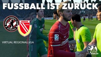 Fußball ist zurück: Auftakt der Virtual Regionalliga mit dem Klassiker BFC Dynamo vs. Energie Cottbus