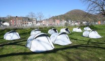 Liège Coronavirus : Les sdf au parc Astrid durant le confinement