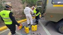Army disinfects Spanish hospital during coronavirus outbreak