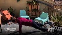 VIDÉO - Confinement : l'exercice de Perrine Laffont pour garder la forme