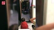 Doktor çiftin çocuklarıyla tebessüm ettiren görüşmesi