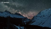 Magical Milky Way seen on perfectly clear night at Canada's Banff National Park