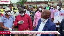 Lutte contre le coronavirus : Diaby Ibrahim, Président des Transporteurs routiers de Côte d'Ivoire sensibilise ses collaborateurs