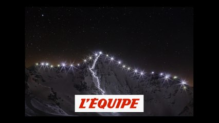 ils illuminent le Bec des Rosses de Verbier de nuit - Adrénaline - Ski/snow freeride