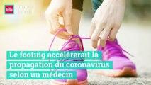 Le footing accélère la propagation du coronavirus selon un médecin