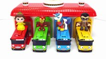 Learn Colors and Counting Tayo the Little Bus Depot and Surprise Toys-
