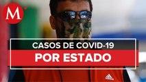 Mapa y casos de coronavirus en Mexico