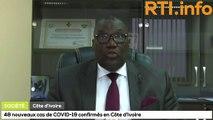 48 nouveaux cas de Covid-19 annoncés par le Ministère de la Santé en Côte d'Ivoire.