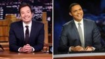Jimmy Fallon Virtually Interviews Trevor Noah On Hosting Late-Night TV During Coronavirus | THR News