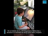 En un balcón de 6 y 46 interpretaron Bella Ciao y  enviaron un mensaje de apoyo para Italia y España