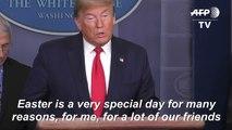 Trump declares coronavirus fight close to end