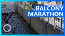Frenchman runs marathon on balcony because of virus
