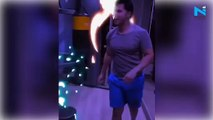 Watch, Varun Dhawan's midnight workout session at home