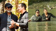 Rajinikanth made his historic tv debut 'Into The Wild'  With Bear Grylls