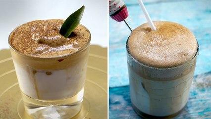 Phát sốt với Trend Cafe Bọt Biển ngon ngây ngất lòng người - How to Make Dalgona Coffee | Vcake