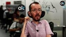 Pablo Echenique, que no pagaba la Seguridad Social de su asistente, critica las donaciones de Amancio Ortega