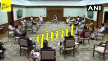 Ministers Sit at a Distance From Each Other During Union Cabinet Meeting