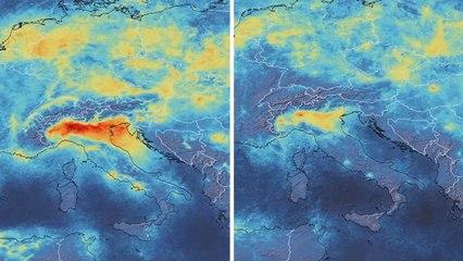 Satellietanimaties tonen enorme afname qua vervuiling na lockdowns door virus
