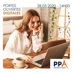 JPO-D: PPA Business School en Facebook Live le 28 mars à 14h !