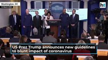 Breaking News US President Donald Trump announces first human trial of coronav