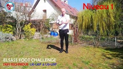 Elsass Foot Challenge #1 : le défi technique à réaliser des U6-U6F aux U9-U9F !