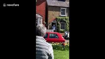 Neighbours sing happy birthday to 92-year-old UK man in isolation