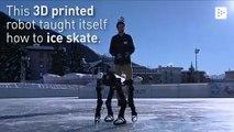 Un robot impreso en 3D aprende a patinar sobre hielo