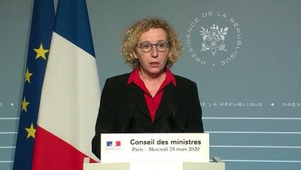 #Coronavirus #COVID19 | Intervention de la ministre du Travail, Muriel Pénicaud, lors du compte-rendu du conseil des ministres du 25 mars 2020