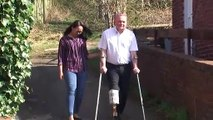 Wife makes prosthetic leg for husband