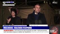 """Emmanuel Macron à Mulhouse: """"Je veux saluer la mémoire des soignants qui ont payé de leur vie leur engagement"""""""