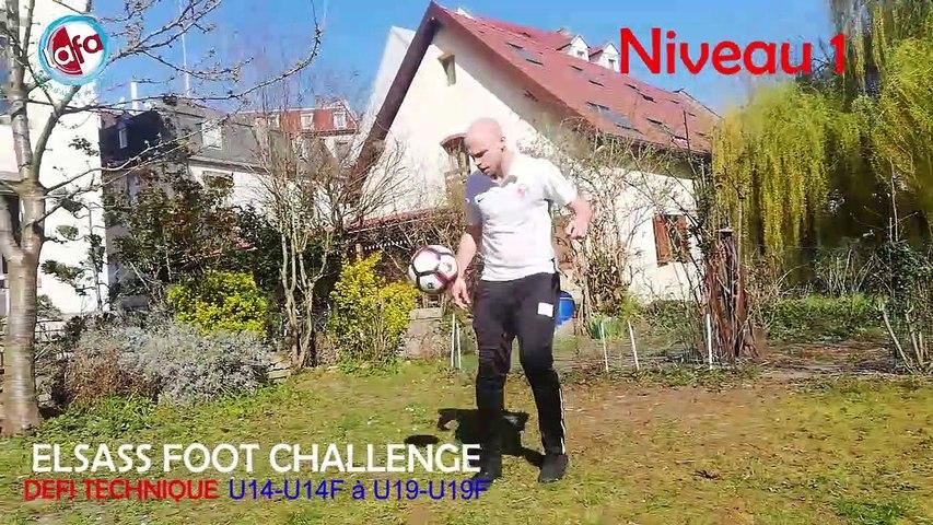 Elsass Foot Challenge - #1 : le défi technique à réaliser des U14-U14F aux U19-U19F !
