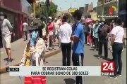 Bono de 380 soles: Beneficiarios desconocían suspensión de cobro en Banco de la Nación