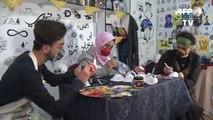 Coronavirus: à Gaza, des masques peints pour inciter la population à les porter