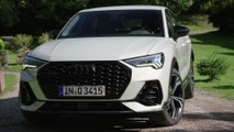 The new Audi Q3 Sportback Exterior Design in Dew Silver
