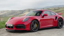 The new Porsche 911 Turbo S Cabriolet Design in Guards Red