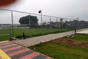 Suasana pagi di Community Center Jl. Surya Kencana Raya Pamulang