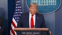 Coronavirus- Us president donald Trump updates reporters at daily briefing with US task force