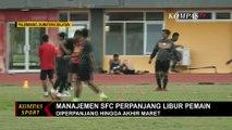 Manajemen Sriwijaya FC Perpanjang Libur Pemain