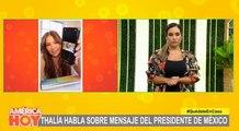 Thalía arremetió contra el presidente de México