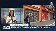Coronavírus - Brasil registra 59 mortes e 2.433 casos confirmados