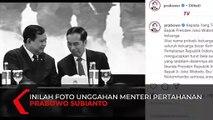 Unggah Foto Berdua Jokowi, Prabowo Ucapkan Duka Cita