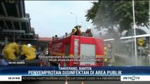 Bandara Soekarno Hatta Disemprot Disinfektan