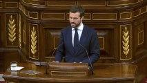 """Casado cree que España está """"de luto"""" y el Gobierno """"no está a la altura"""""""