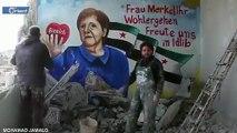 """فنانون في إدلب يعبّرون عن فرحهم بخلو """"ميركل"""" من كورونا على طريقتهم الخاصة"""