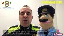 Manolo, el policía más peculiar de Castilleja, que recuerda a los niños que se queden en casa
