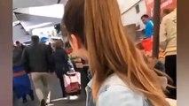 Koronavirüs | Anneannesi için alışverişe çıkan genç kadın ile pazarcının moral düeti
