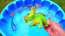 Learn Colors with Dinosaurs and Sea Animals Toys for Kids Jurassic World Dinosaur Educational Video