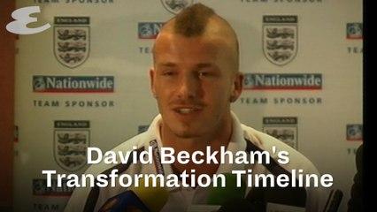 David Beckham's Transformation Timeline